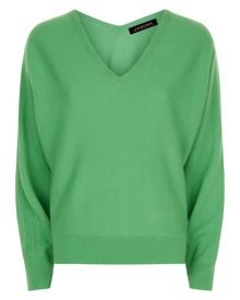 Jaeger Wool Cashmere V-Neck Sweater