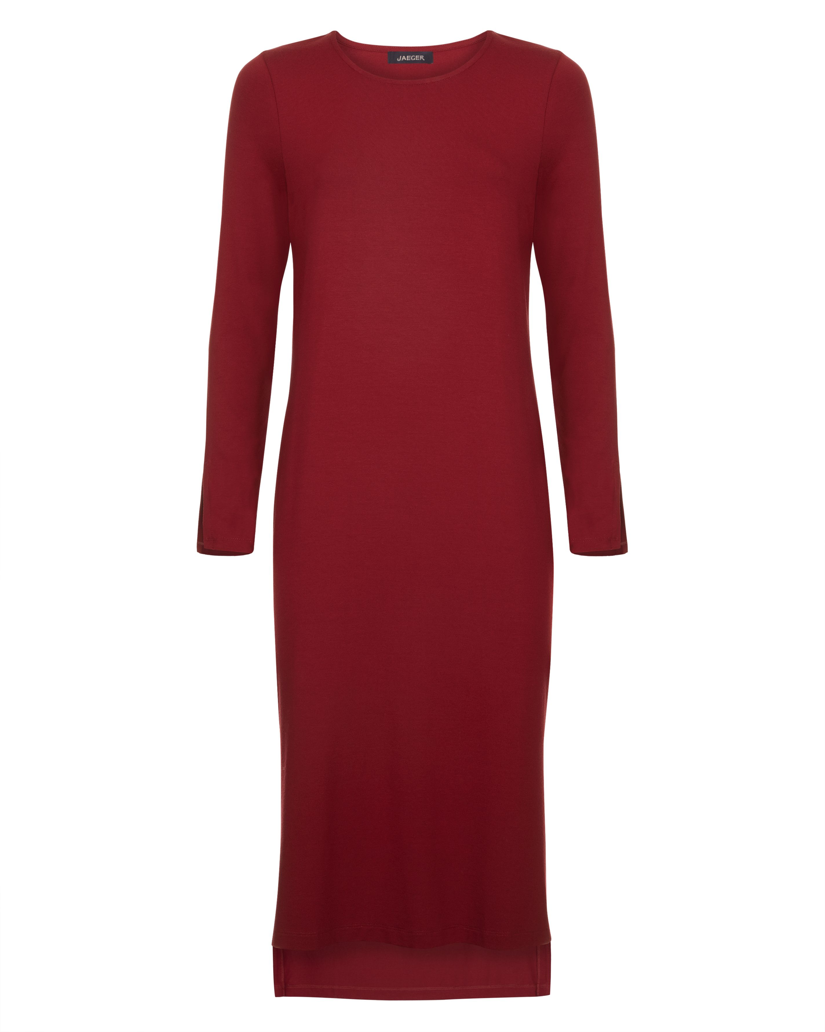 Jaeger Jersey Split-Sleeve Dress, Red