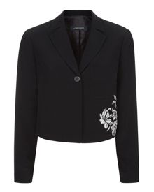 Jaeger Lace Panelled Jacket