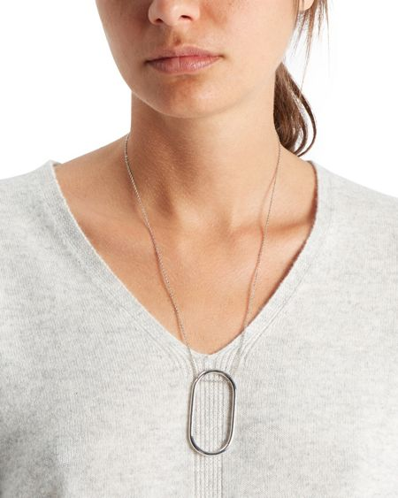 Jaeger Oblong Drop Necklace