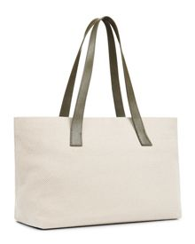 Jaeger Leather Canvas Tote