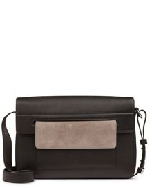 Jaeger Leather Contrast Pocket Bag