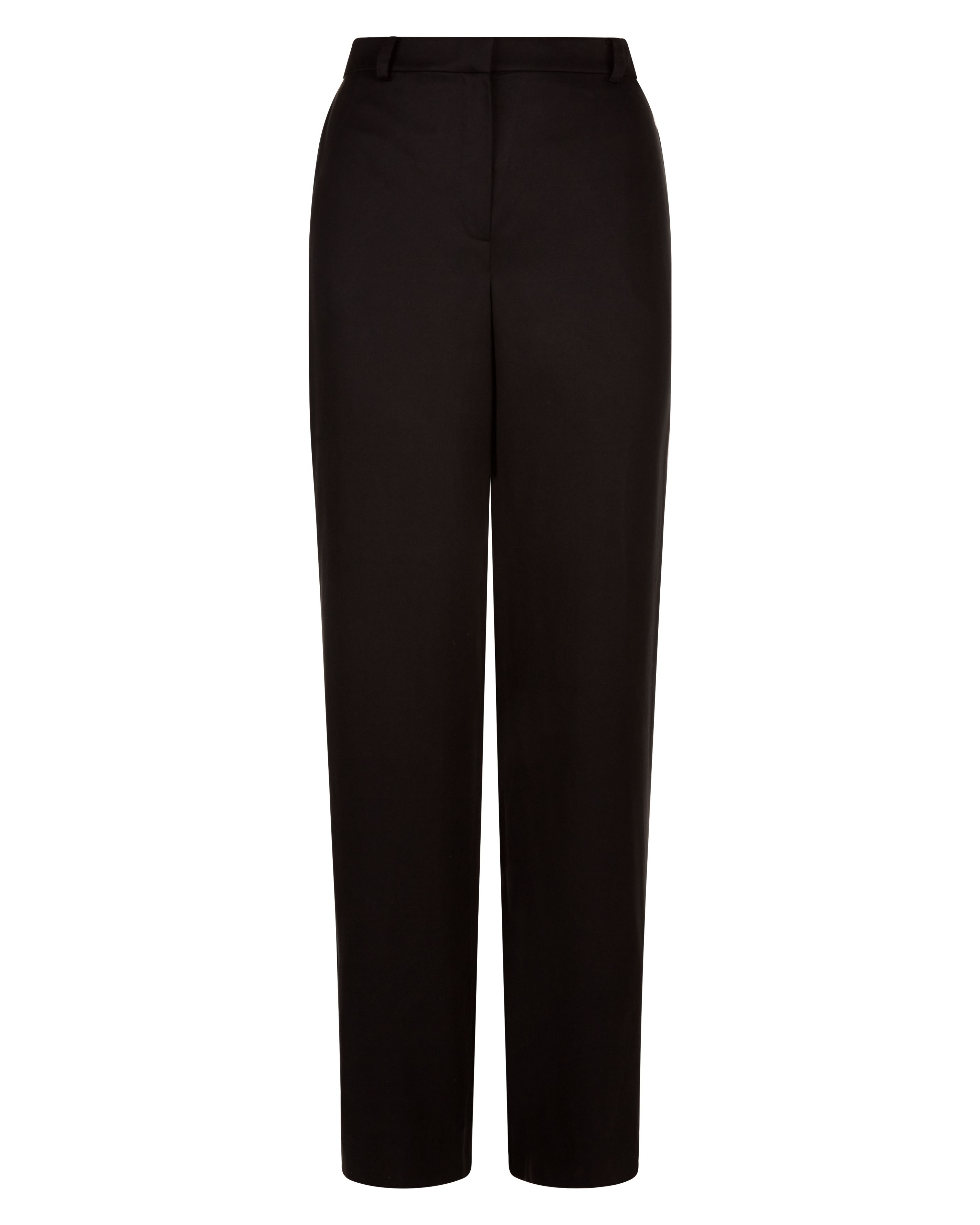 Jaeger Slouchy Stitich Detail Trousers, Black
