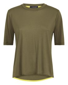 Jaeger Curved Hem Crew Neck T-Shirt