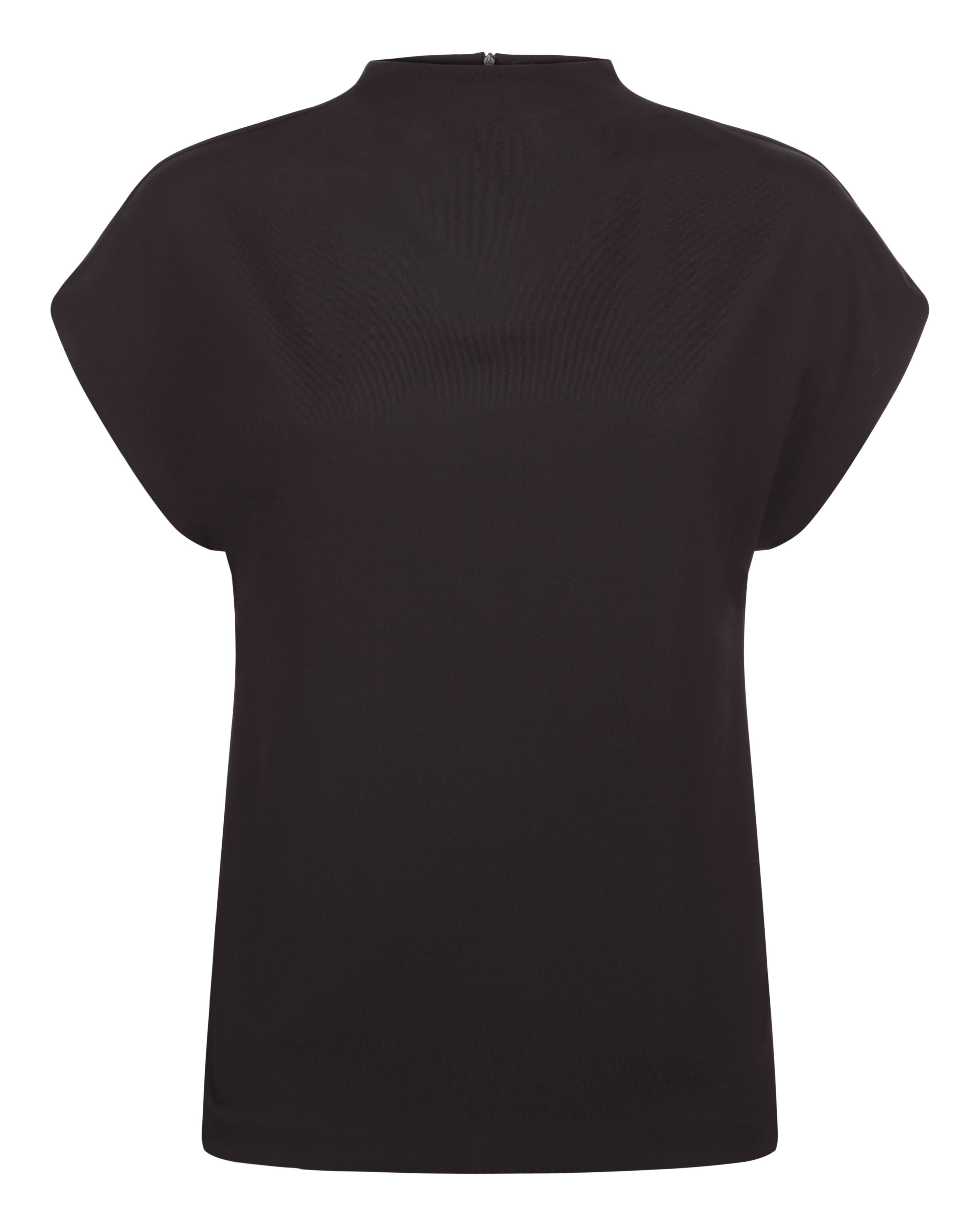 Jaeger Jersey Drape Neck Top, Black