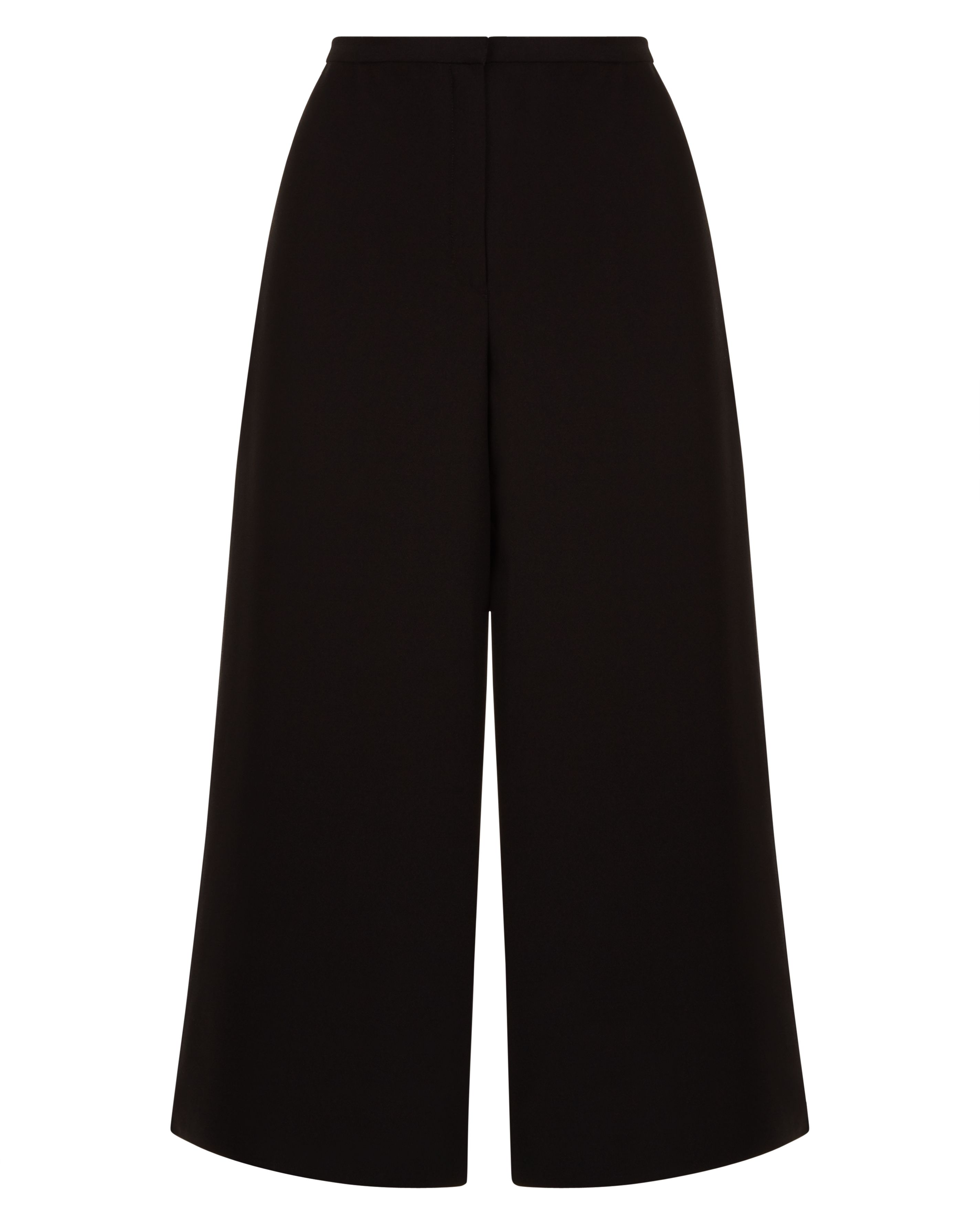 Jaeger High-Waisted Fluid Trousers, Black