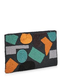 Jaeger Abstract Beaded Clutch