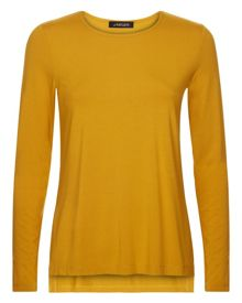 Jaeger Jersey Split-Sleeve Top