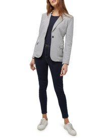 Jaeger Jersey Striped Blazer