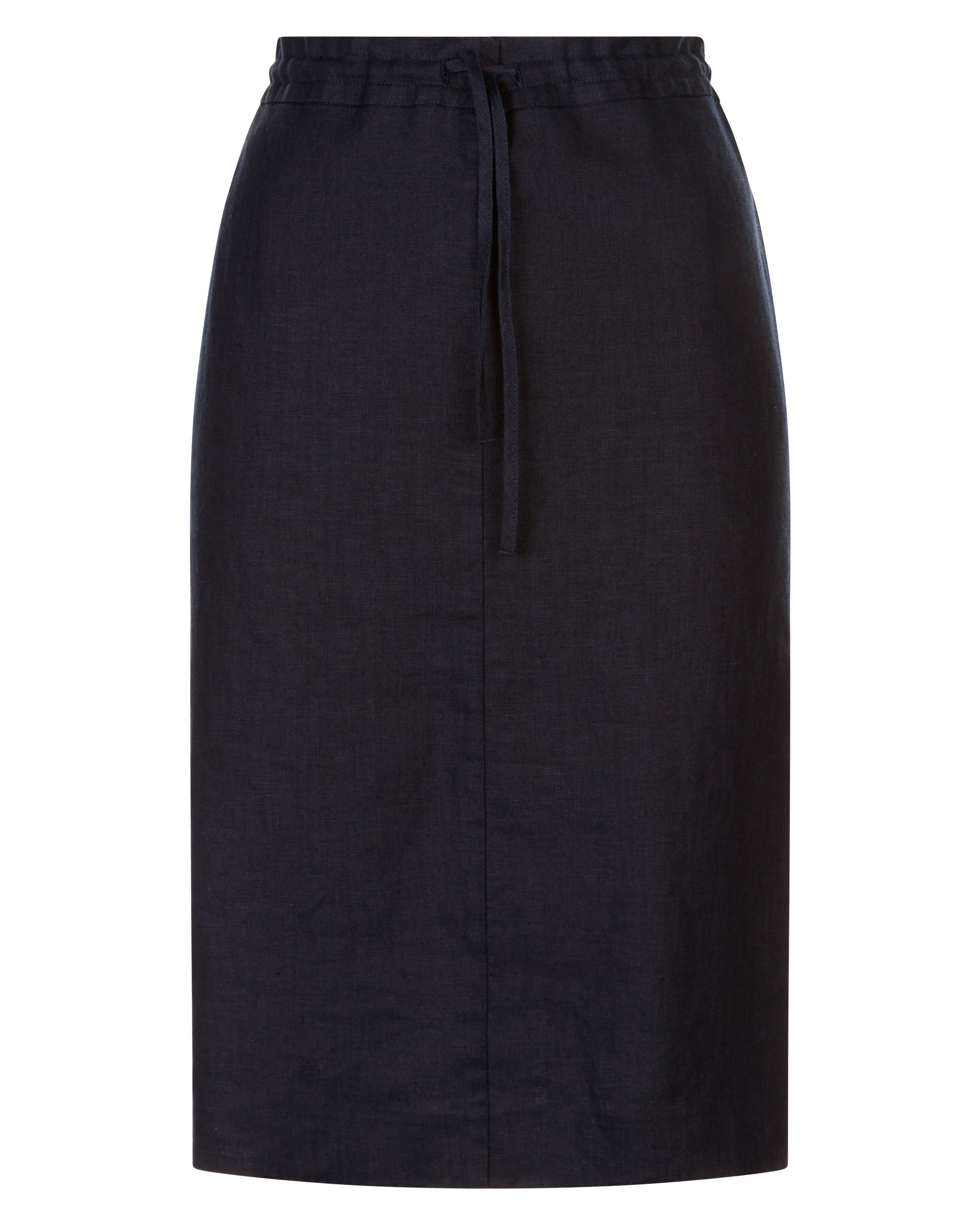 Jaeger Linen Paper Bag Pencil Skirt, Blue