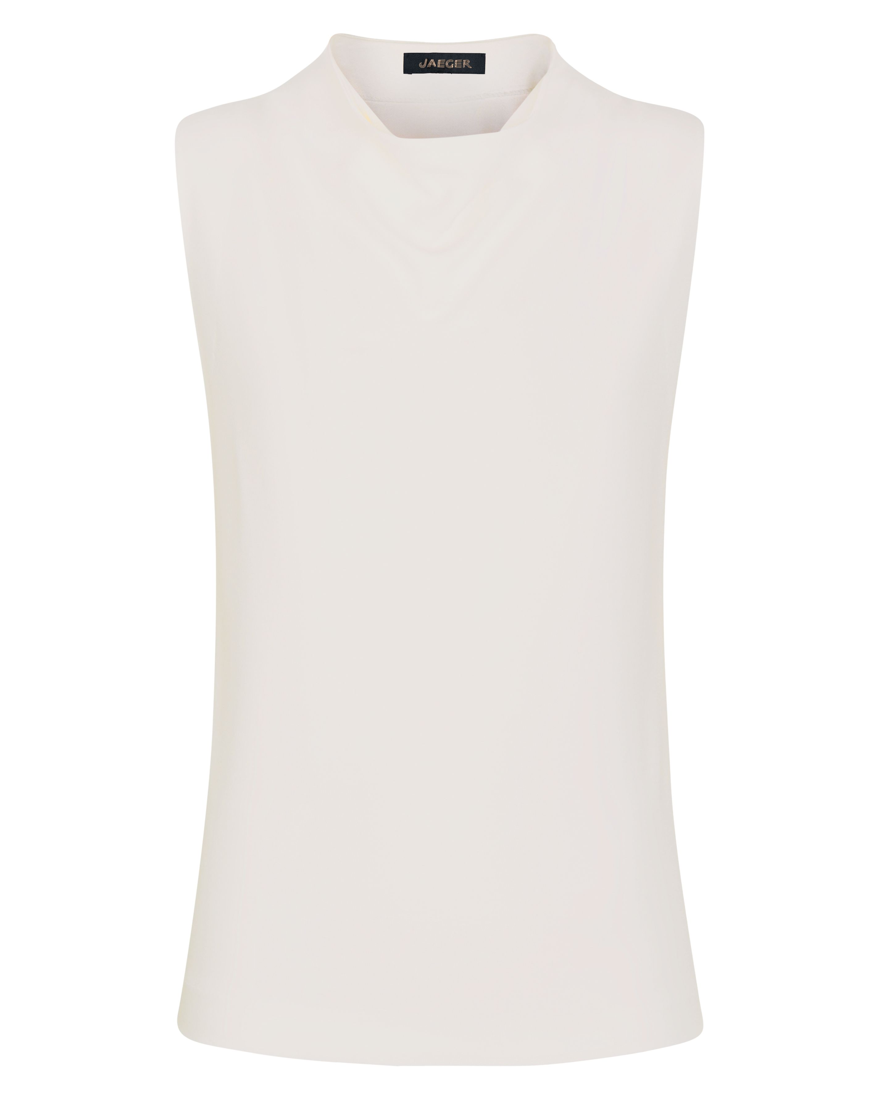 Jaeger Jersey Drape Neck Top, White