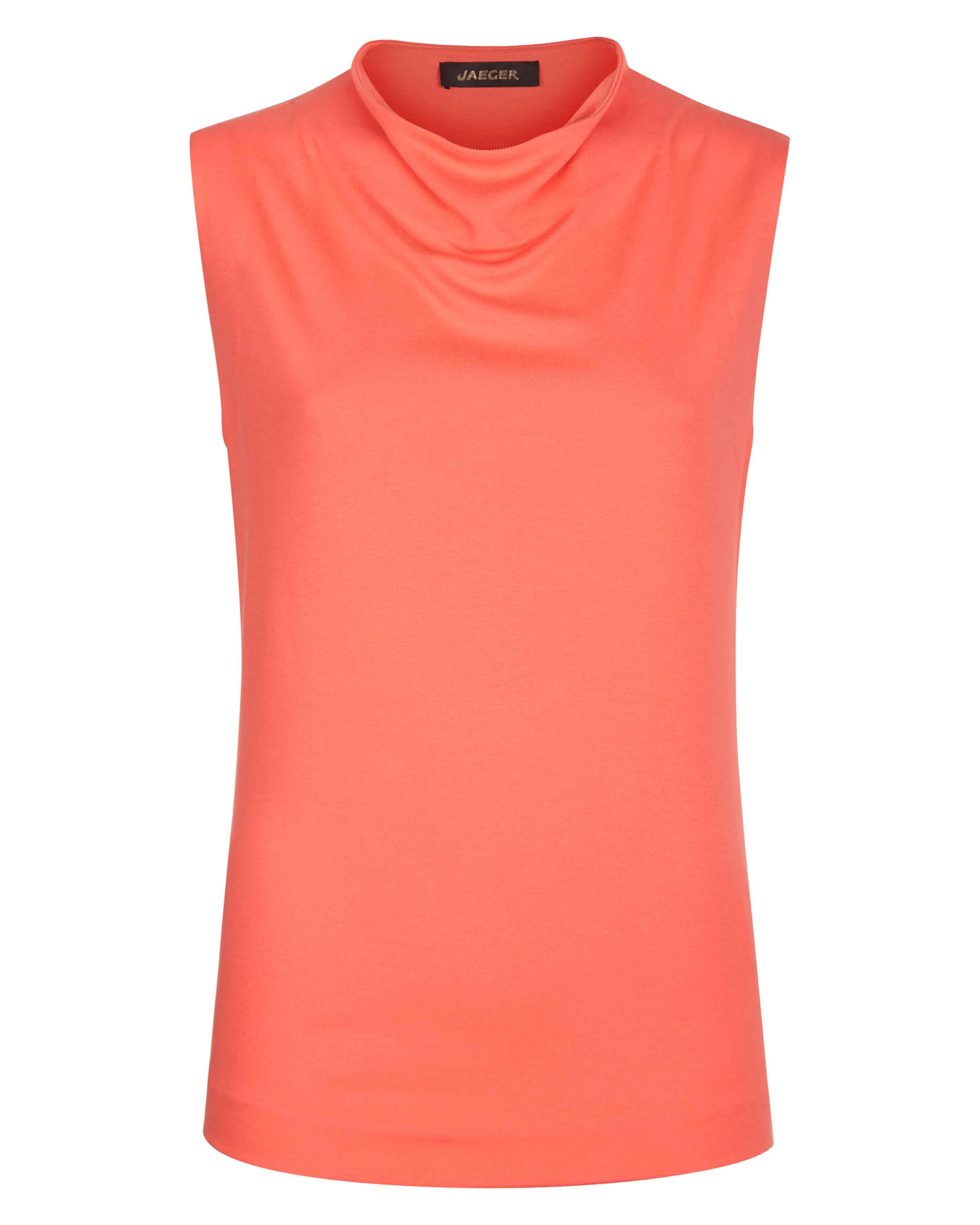 Jaeger Jersey Drape Neck Top, Peach