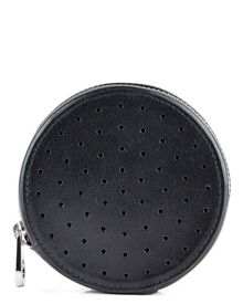 Jaeger Leather Perforated Zip Purse