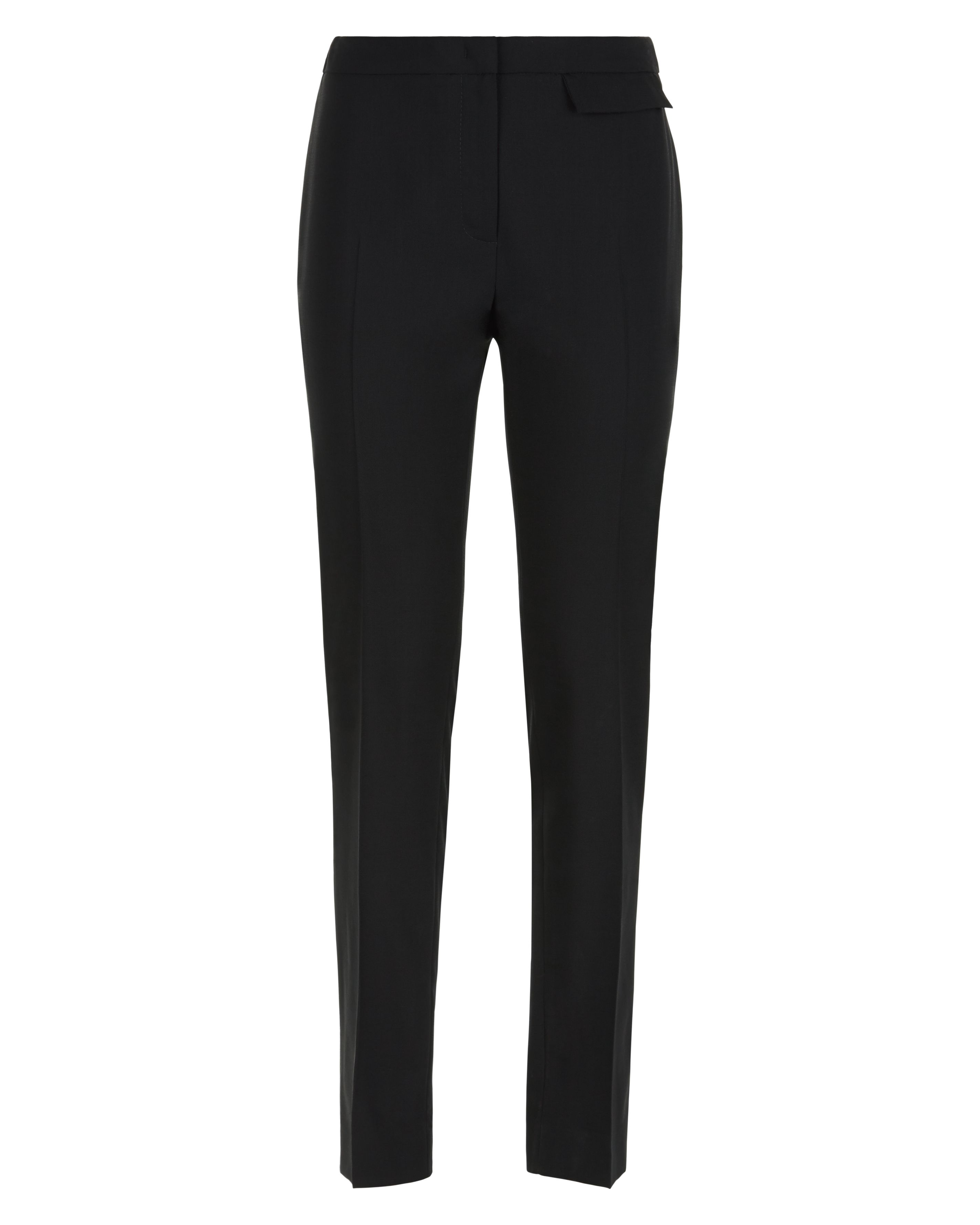 Jaeger Wool Split Detail Trousers, Black