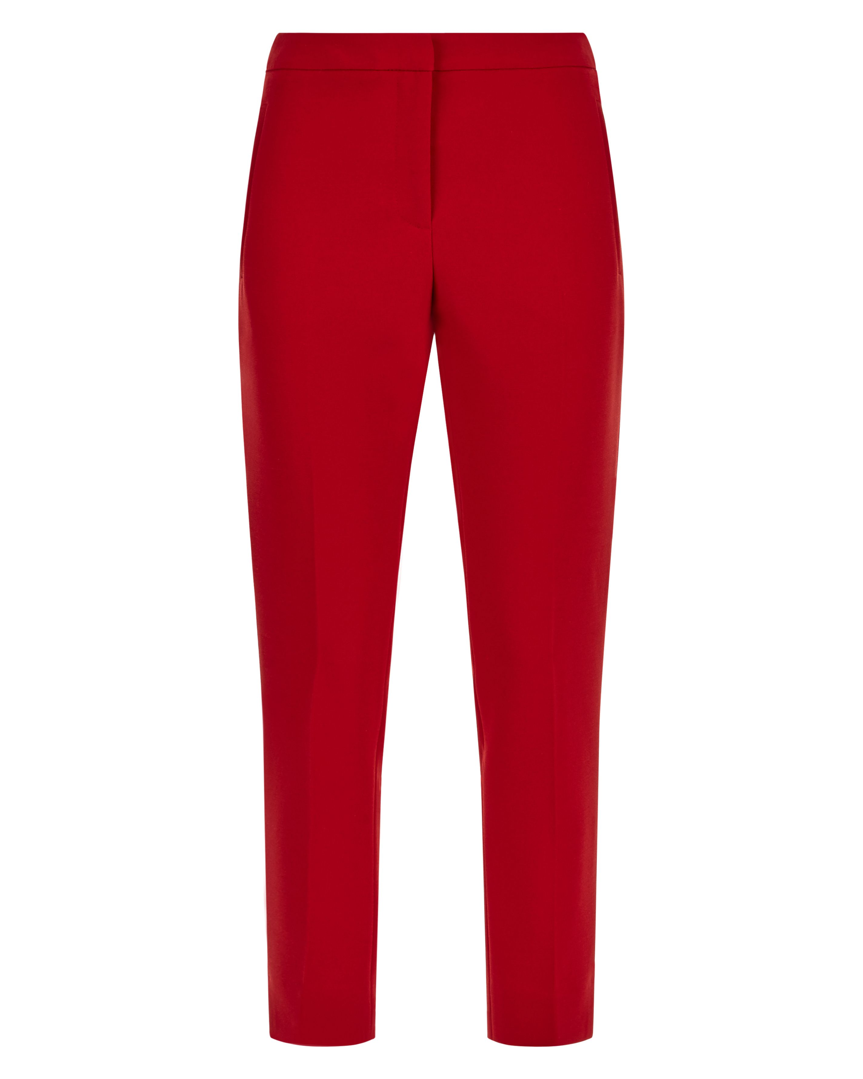 Jaeger Slim Cigarette Trousers, Red
