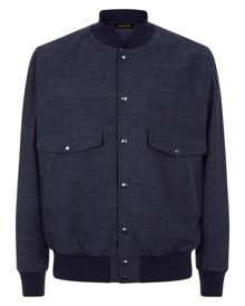 Jaeger Chambray Bomber Jacket