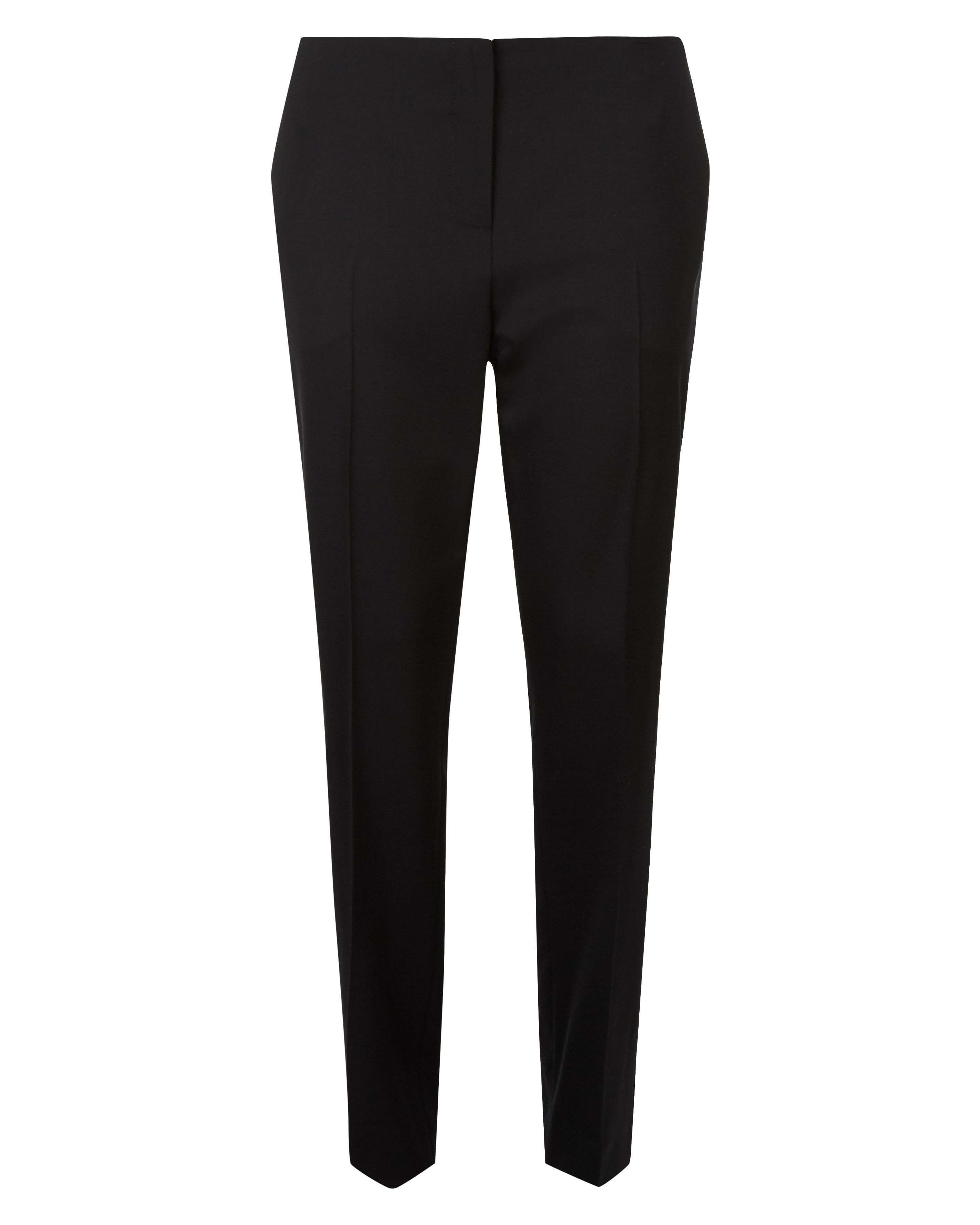 Jaeger Wool Narrow Leg Trousers, Black