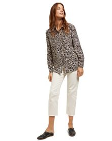 Jaeger Silk Spot Animal Print Blouse
