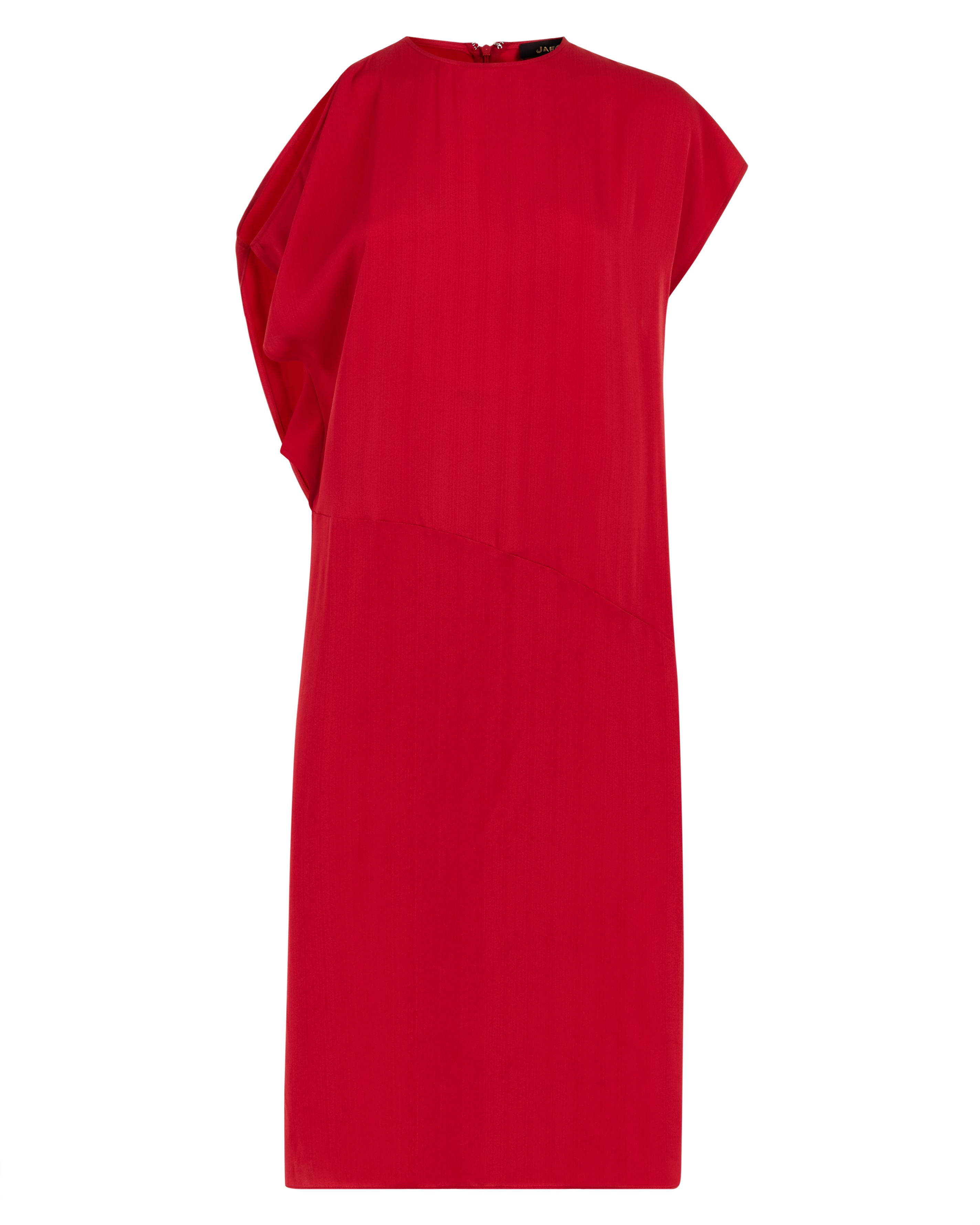 Jaeger Off-the-Shoulder Crepe Dress, Red
