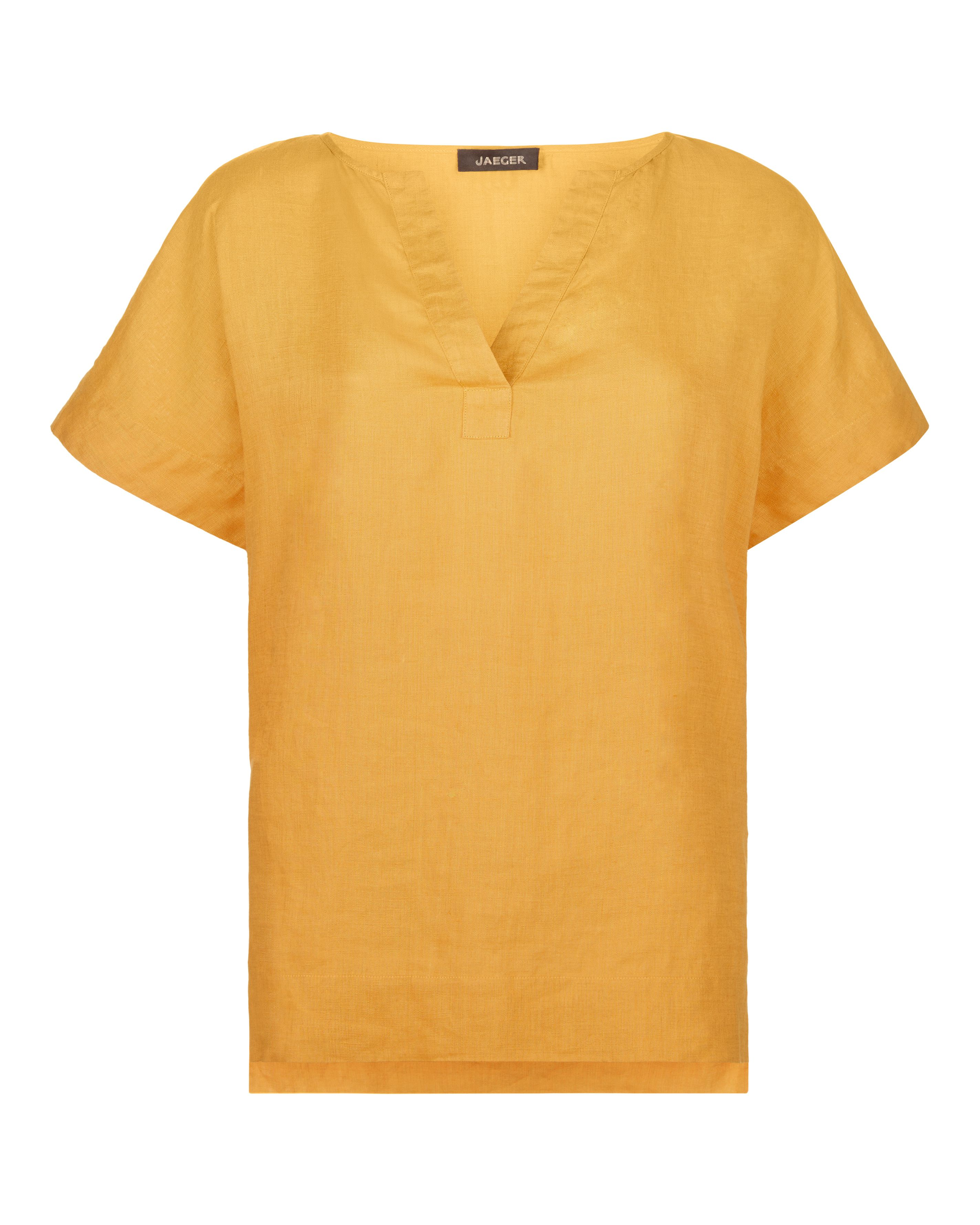 Jaeger Linen Split Sleeve T-Shirt, Orange