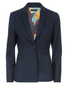 Jaeger Wool Gold Button Blazer