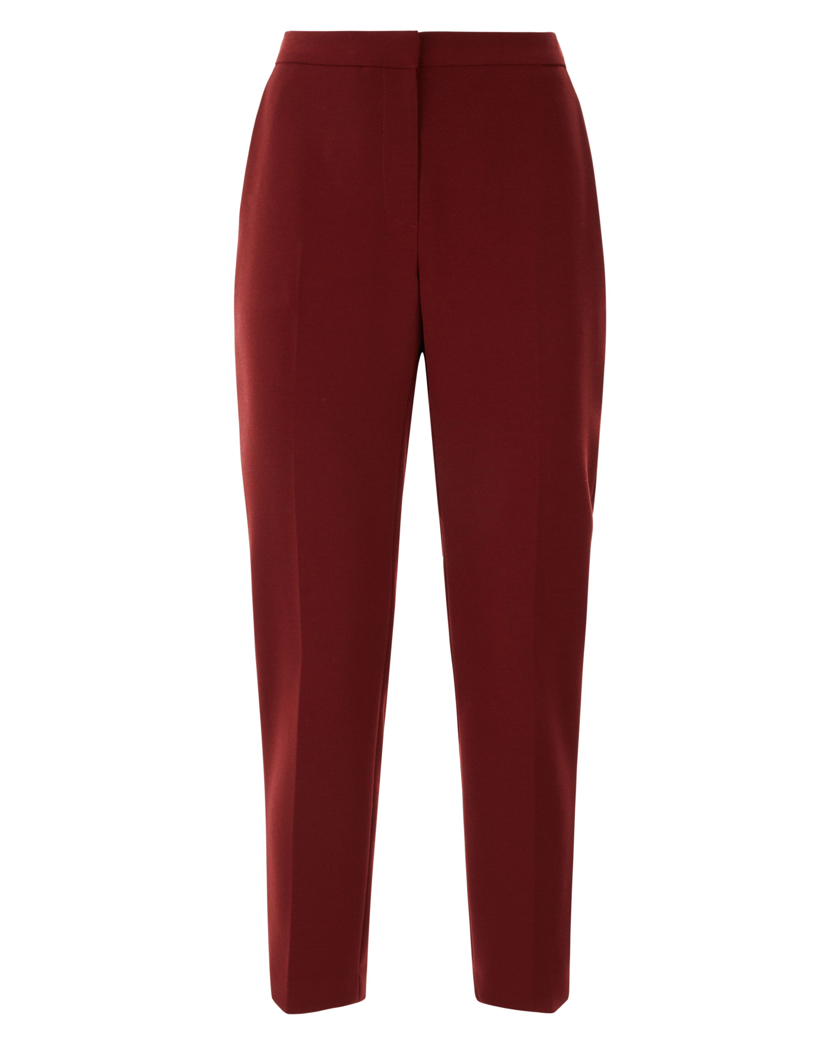 Jaeger Cigarette Trousers With Buttons, Red