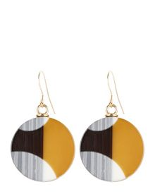 Jaeger Resin Graphic Disc Earrings