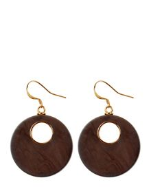 Jaeger Resin Wood Effect Earrings