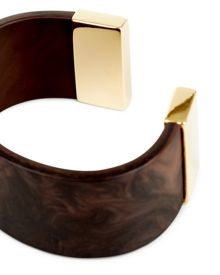 Jaeger Resin Wood Effect Cuff