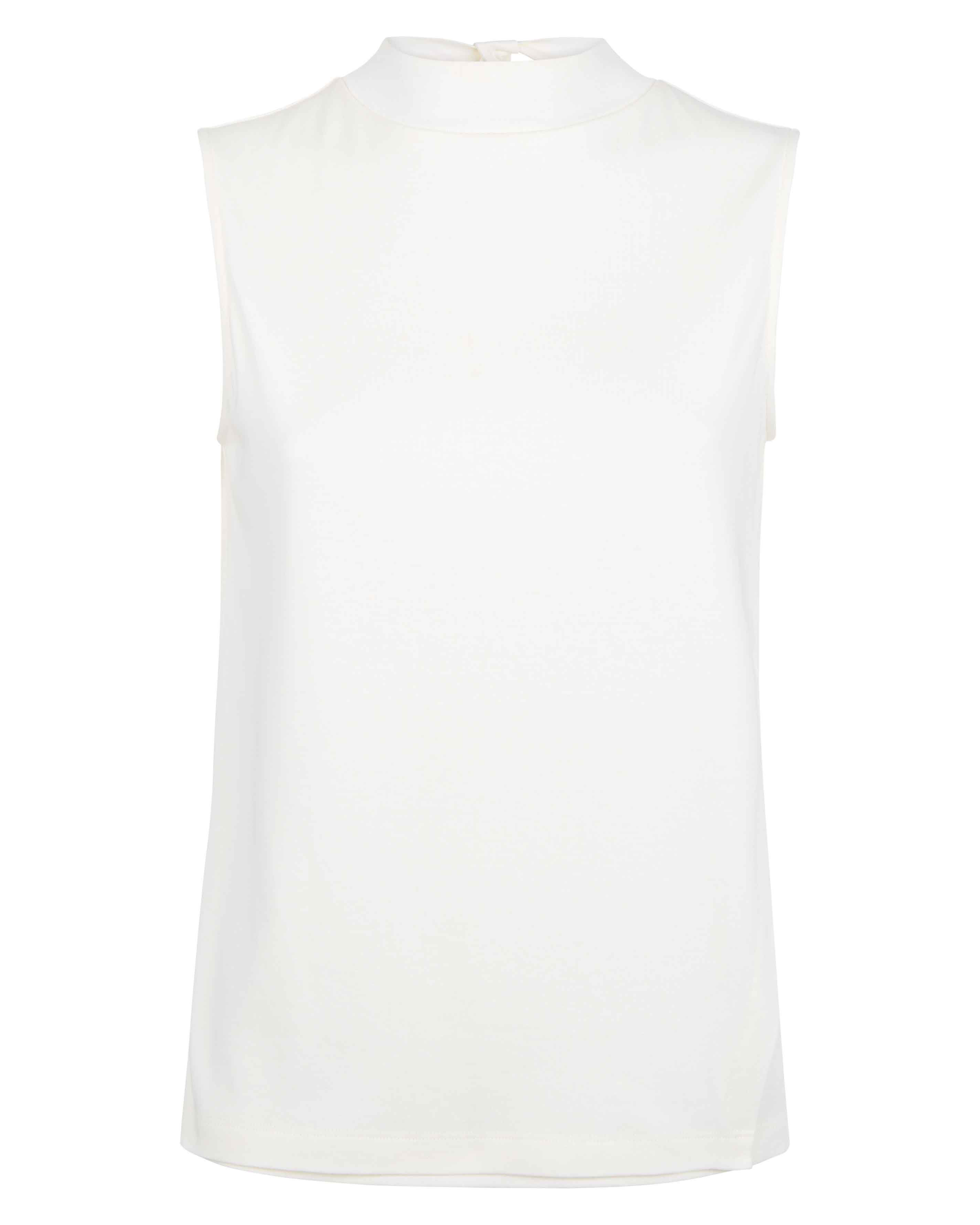 Jaeger Jersey Asymmetric Top, White