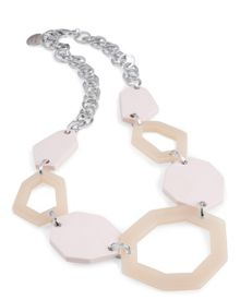 Jaeger Pastel Hexagon Necklace