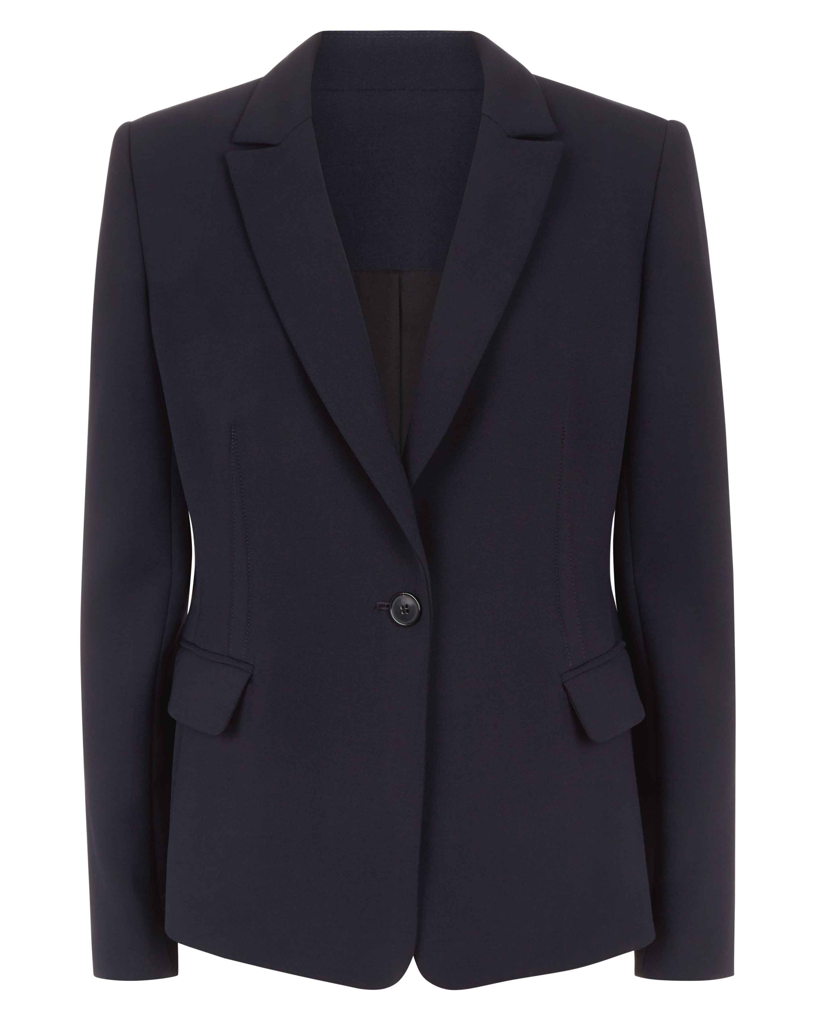 Jaeger Slim fitted tailored jacket, Midnight