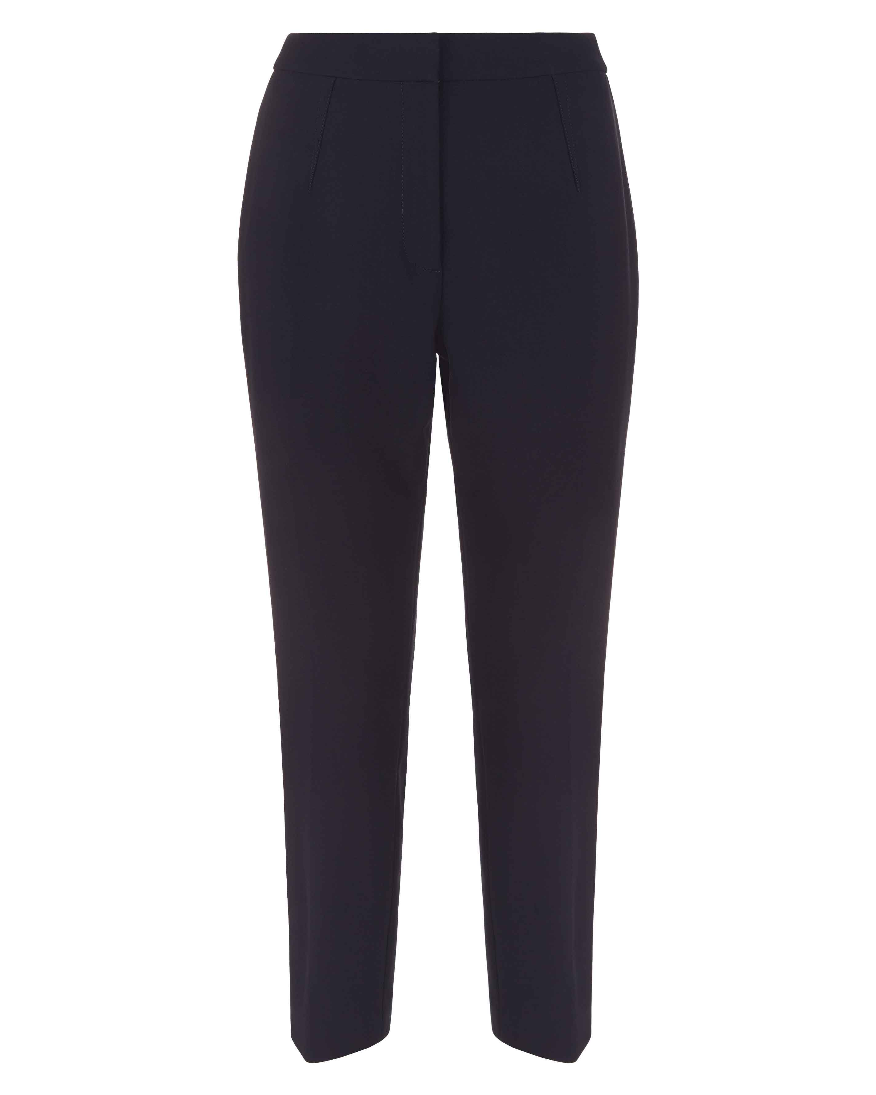 Jaeger Exposed Dart Detail Trousers, Midnight
