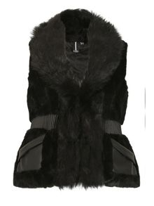 Izabel London Faux Fur Waisted Gilet
