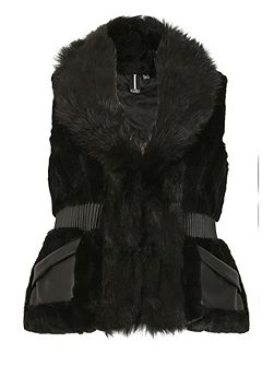 Faux Fur Waisted Gilet