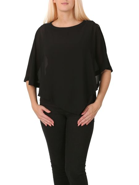 Izabel London Layered Sheer Top