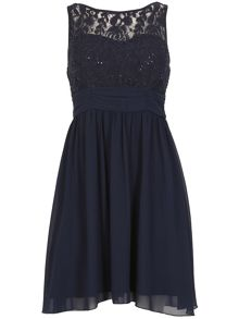 Izabel London Lace Top Dress