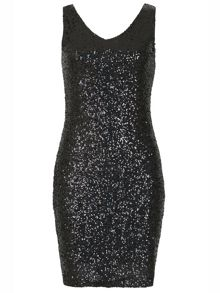 Izabel London Sequin Embellished Midi Dress