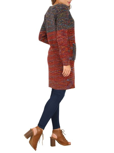 Izabel London Block Colour Midi Cardigan