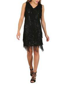 Izabel London Fringe Flapper Dress
