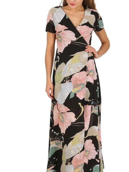 Izabel London Floral Wrap Maxi Dress