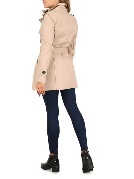 Izabel London Long Sleeve Button Detail Coat