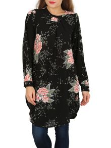 Izabel London Floral Print Flow Tunic