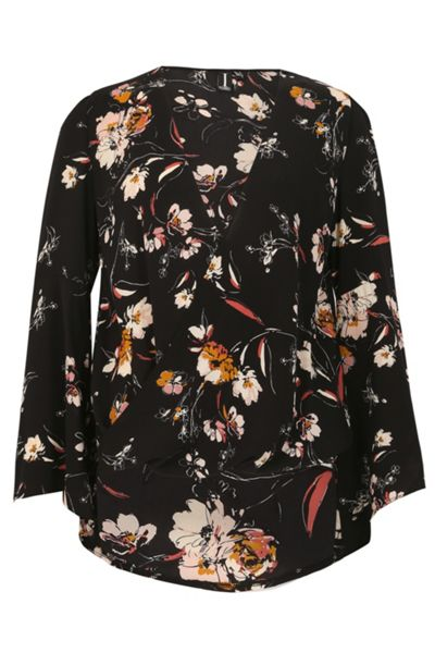 Izabel London V-Neck Floral Blouse