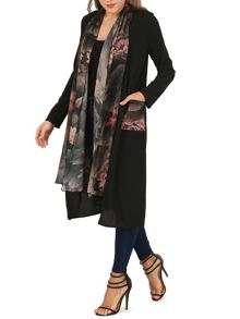 Izabel London Patterned Loose Waistcoat