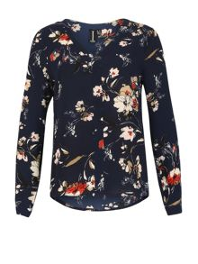 Izabel London V-Neck Print Blouse