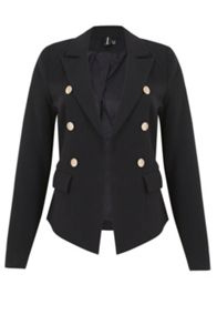 Izabel London Fitted Classic Buttoned Jacket