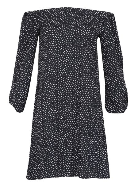 Izabel London Polka Dot Bardot Dress