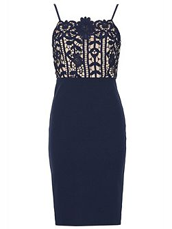 Lace Top Pencil Dress