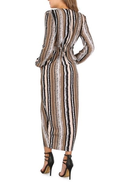 Izabel London Vintage Stripe Maxi Dress